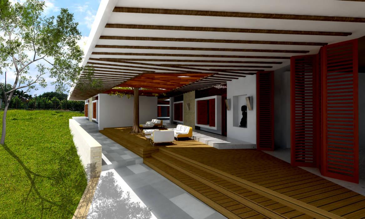 CASA L1 _ San Jerónimo Antioquia: Casas de estilo  por @tresarquitectos,
