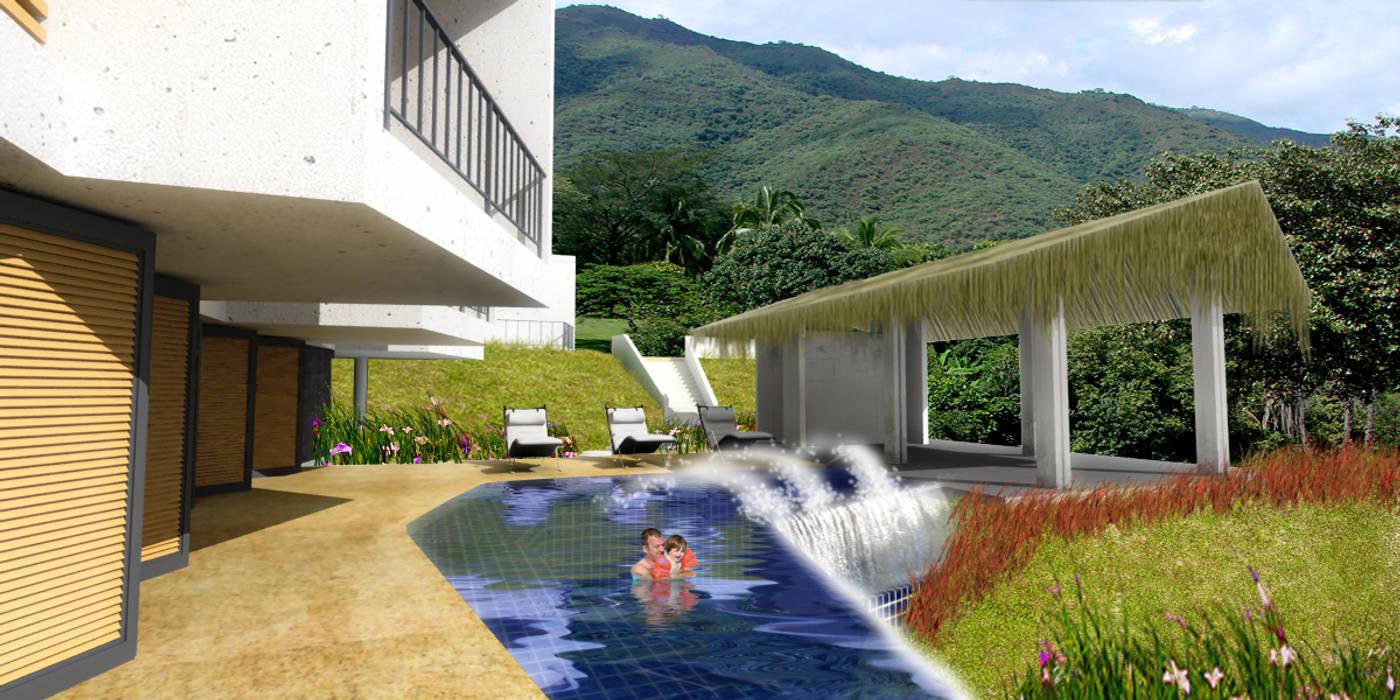 CASA L2_ San Jerónimo - Antioquia: Casas de estilo  por @tresarquitectos,