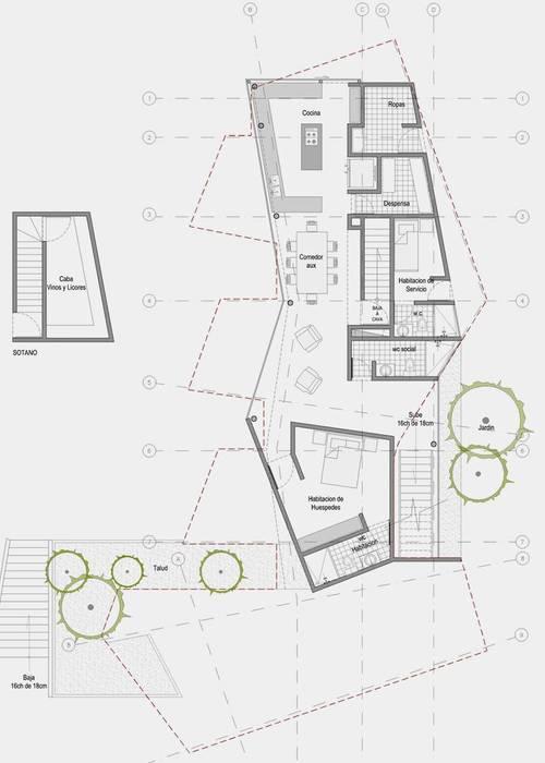 CASA L2_ San Jerónimo - Antioquia: Casas de estilo  por @tresarquitectos, Minimalista
