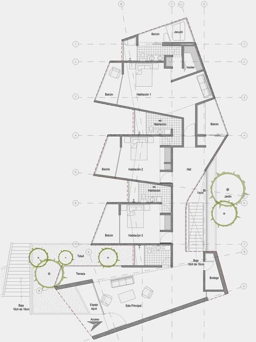 CASA L2_ San Jerónimo - Antioquia: Casas de estilo  por tresarquitectos