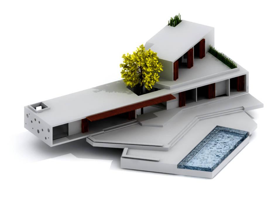 CASA _ M+A _ Santa Fe de Antioquia Casas de estilo minimalista de @tresarquitectos Minimalista
