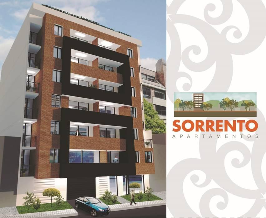 Render Fachada Casas modernas de FARIAS SAS ARQUITECTOS Moderno Ladrillos