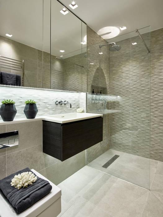 Modern contemporary bathroom:  Bathroom by Tailored Living Interiors, Modern