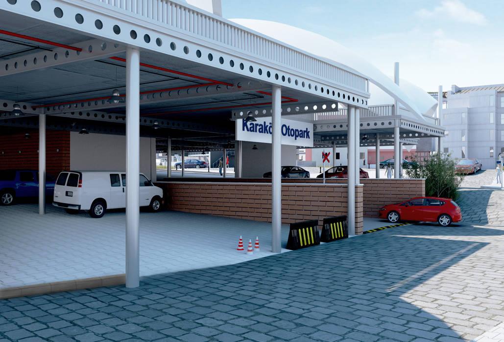 Mediterranean style garage/shed by ROAS ARCHITECTURE 3D DESIGN AGENCY Mediterranean