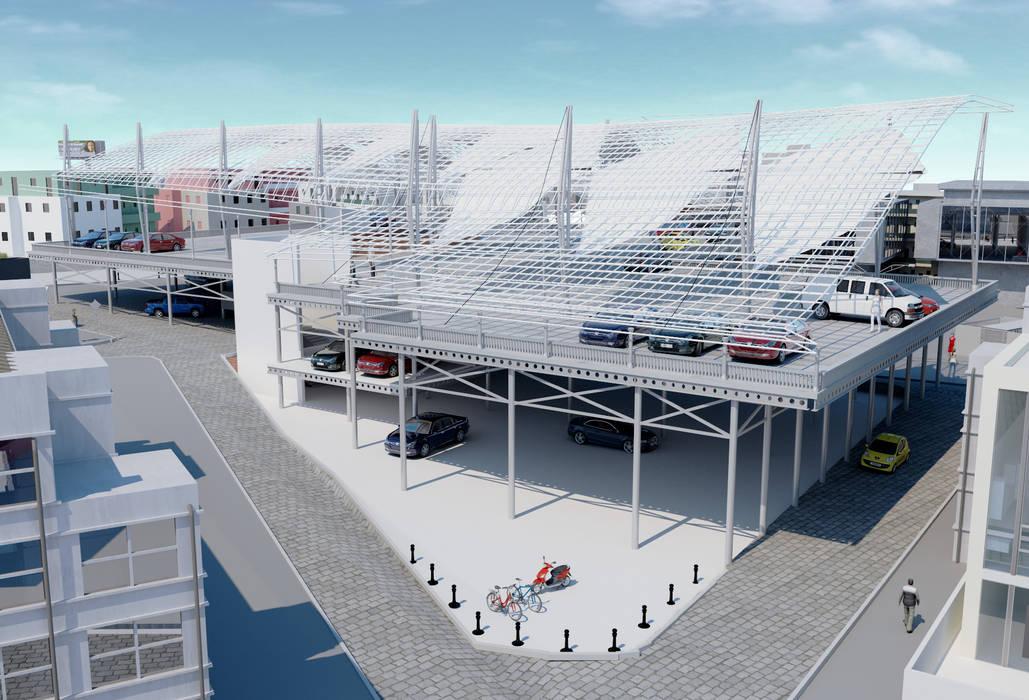 ROAS ARCHITECTURE 3D DESIGN AGENCY Garajes de estilo mediterráneo