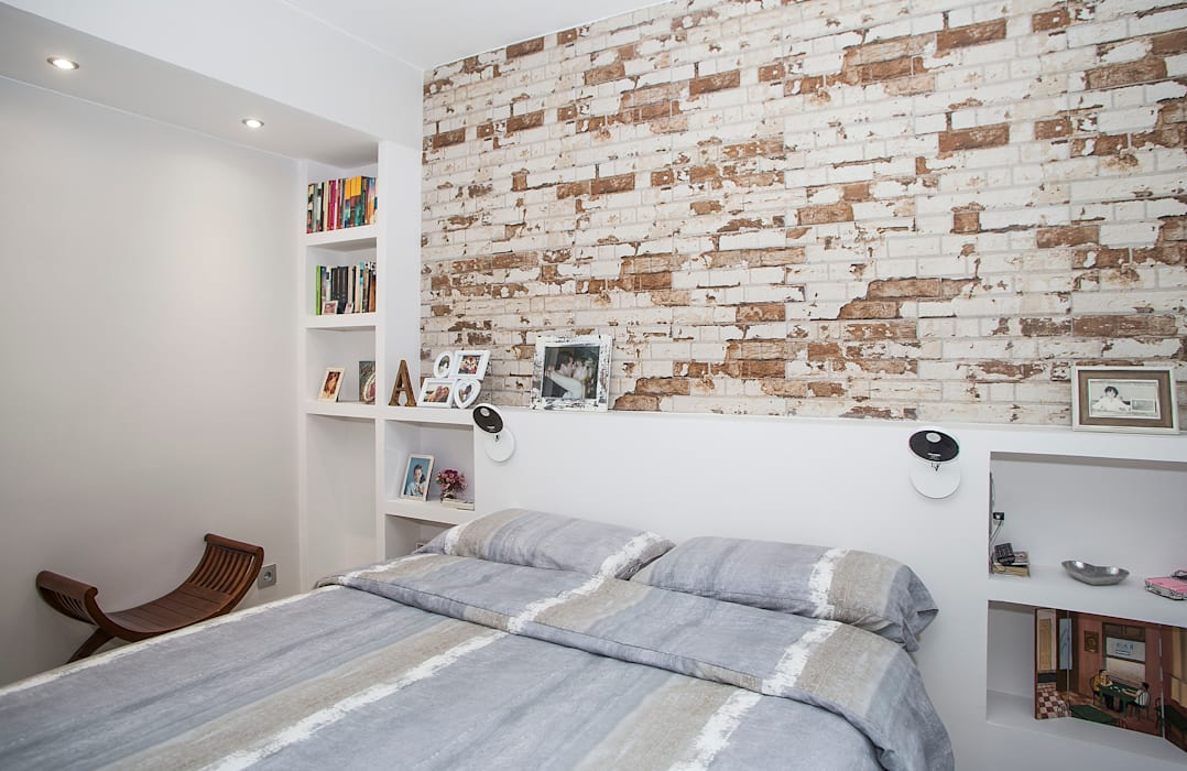 Modern style bedroom by Grupo Inventia Modern Bricks