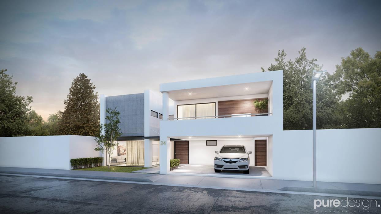 Santerra residencial casas de estilo minimalista por pure for Fachadas de casas modernas en hermosillo