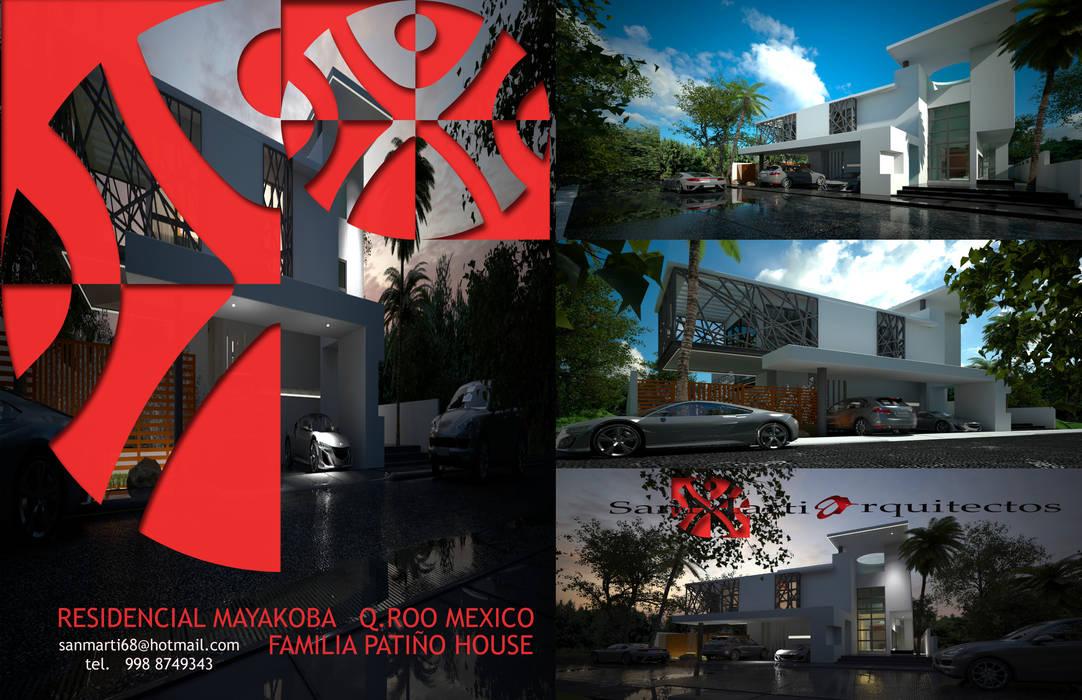 RESIDENCIA MAYAKOBA: Casas de estilo minimalista por sanmartiarquitectos