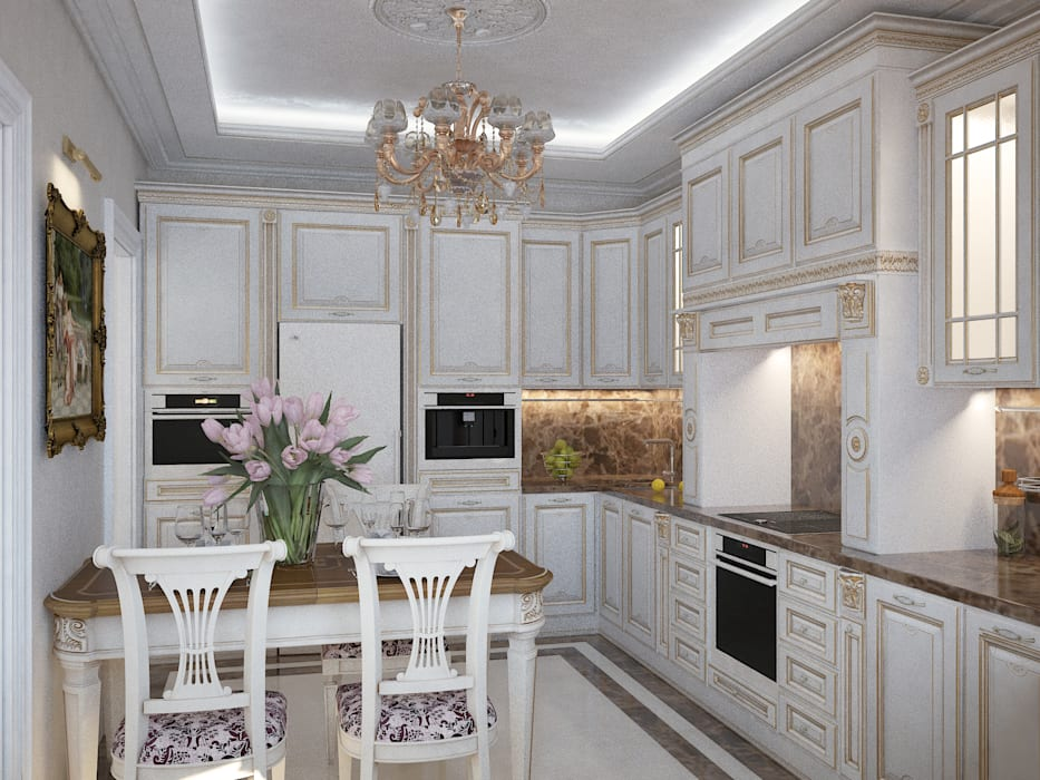 Дизайн бюро Оксаны Моссур Кухня Білий