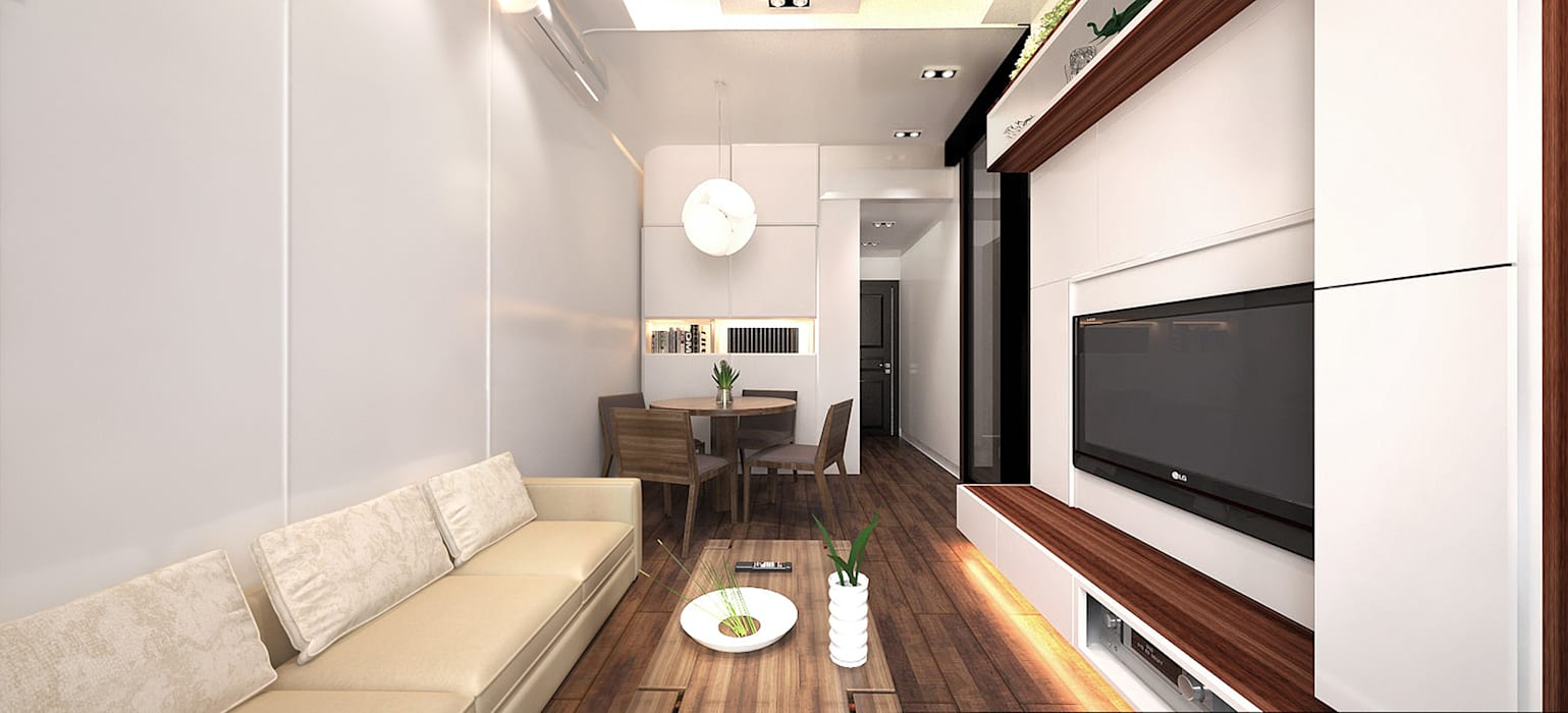 6/F TOWER 6 METRO TOWN PHASE 2 LE POINT:  Dining room by Much Creative Communication Limited, Minimalist Wood-Plastic Composite