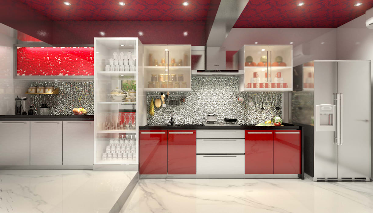 Lively Kitchen:  Kitchen by AAMRAPALI BHOGLE