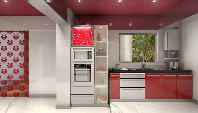 Lively Kitchen:  Kitchen by AAMRAPALI BHOGLE