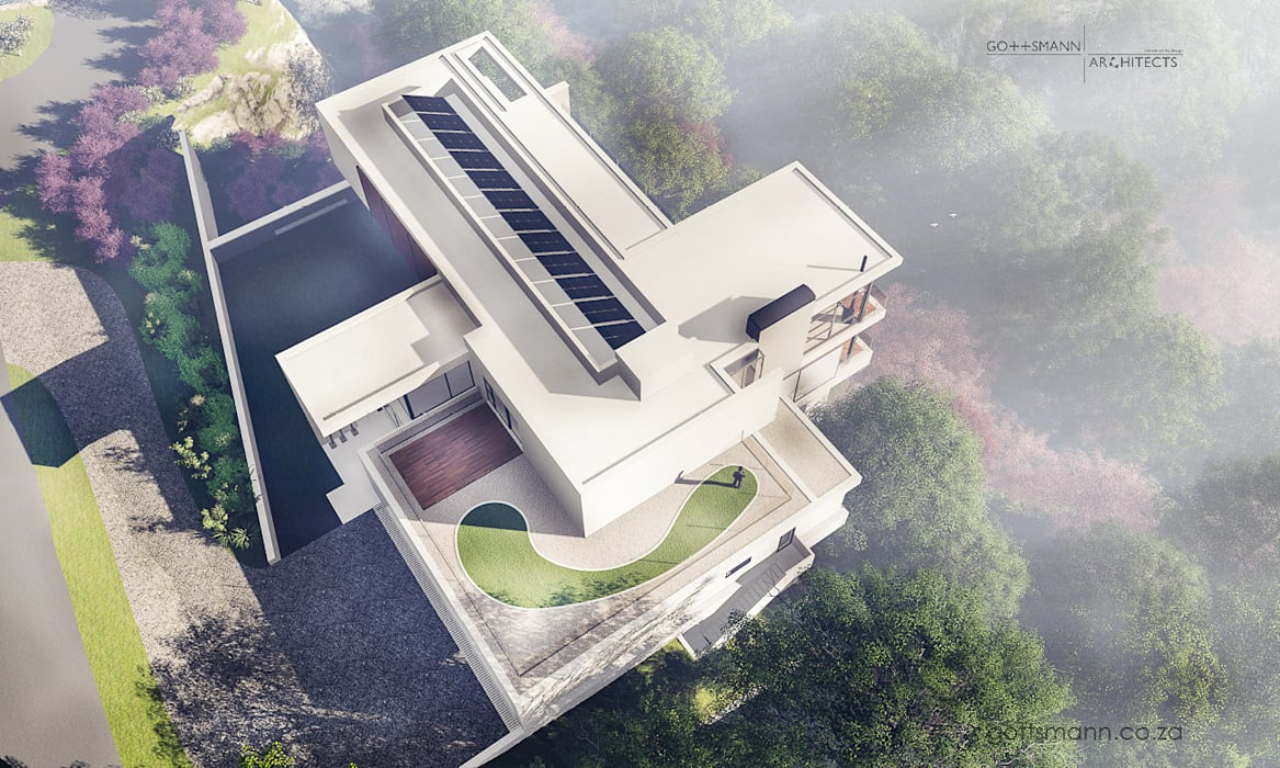 Aerial View of House:  Houses by Gottsmann Architects, Modern Concrete