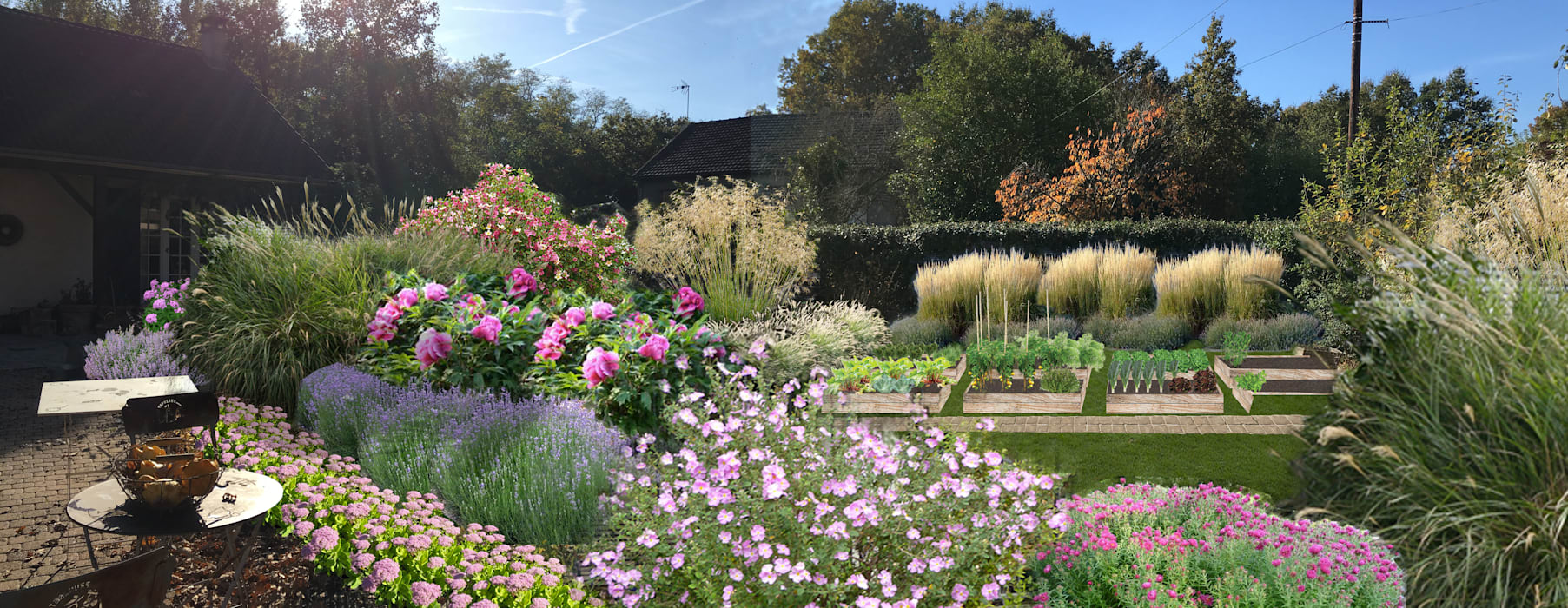 Jardin De Graminees Vivaces Eragny Sur Oise 95 Jardin De