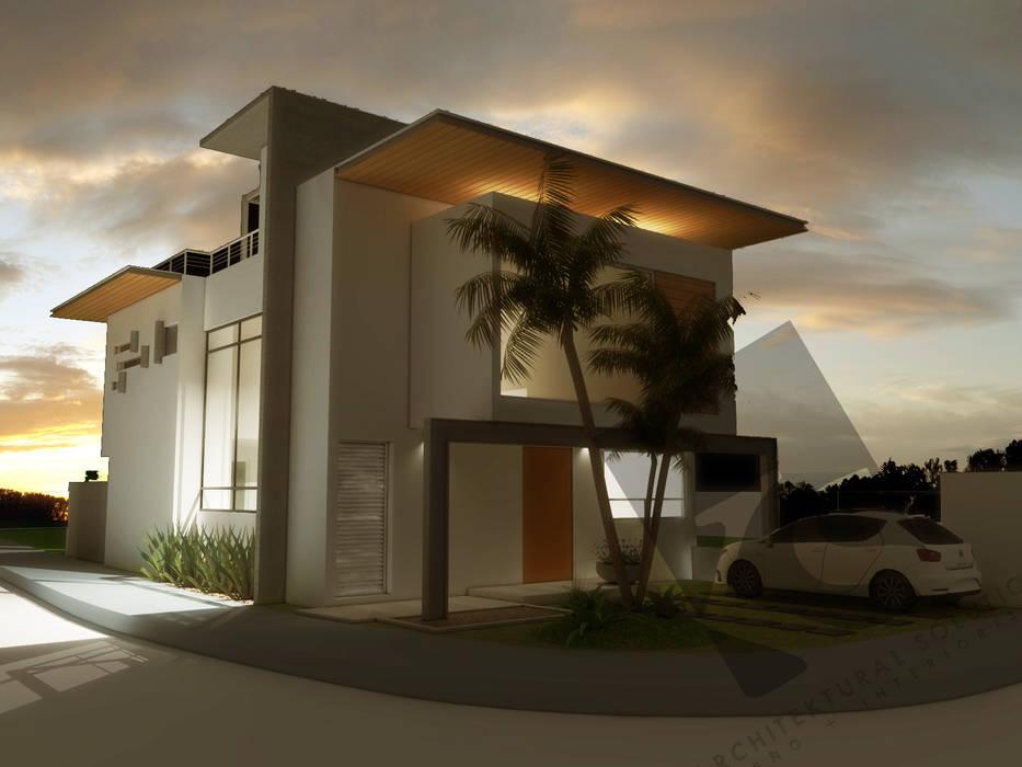 Fachada Principal: Casas de estilo moderno por KS Architektural Solution