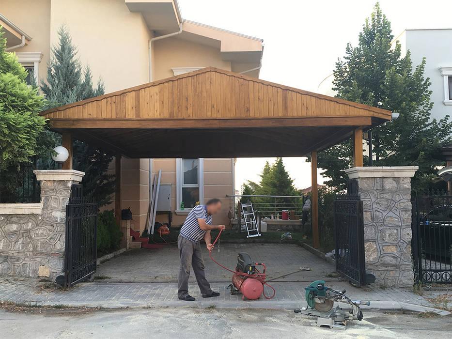 M2O Mimarlık Tasarım Ltd Sti – ROSE GARDEN KONAKLARI, ANKARA:  tarz Garaj / Hangar