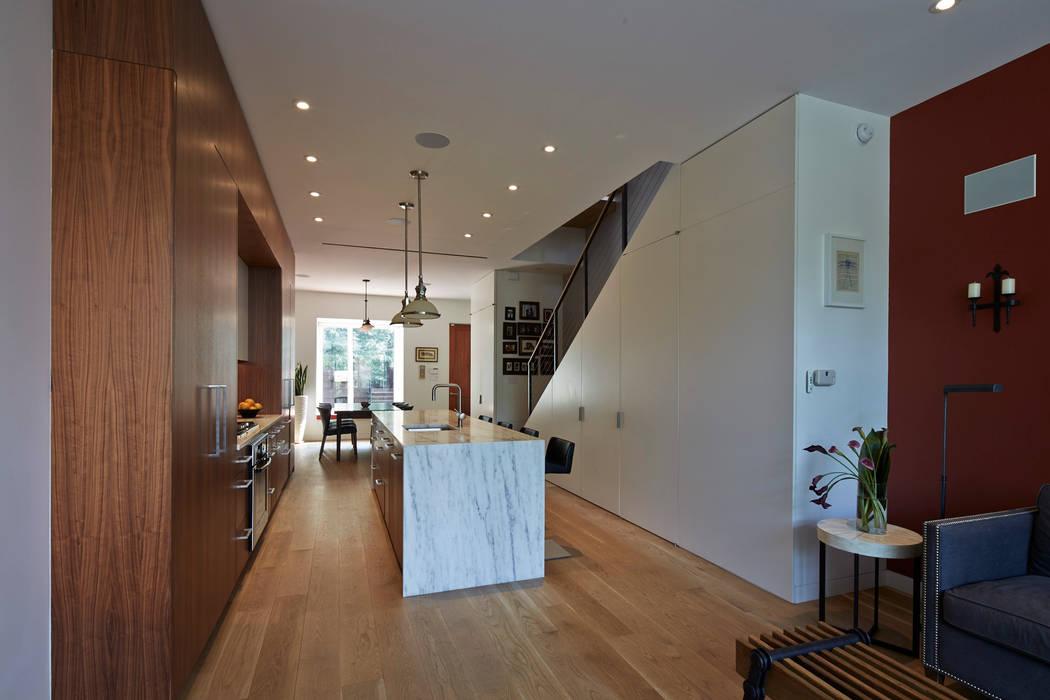Cobble Hill Townhouse Modern Kitchen by Sarah Jefferys Design Modern