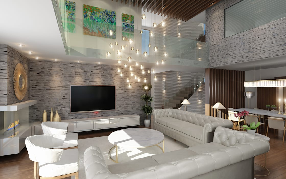 Living room by I'Mimarlik, Modern Wood Wood effect