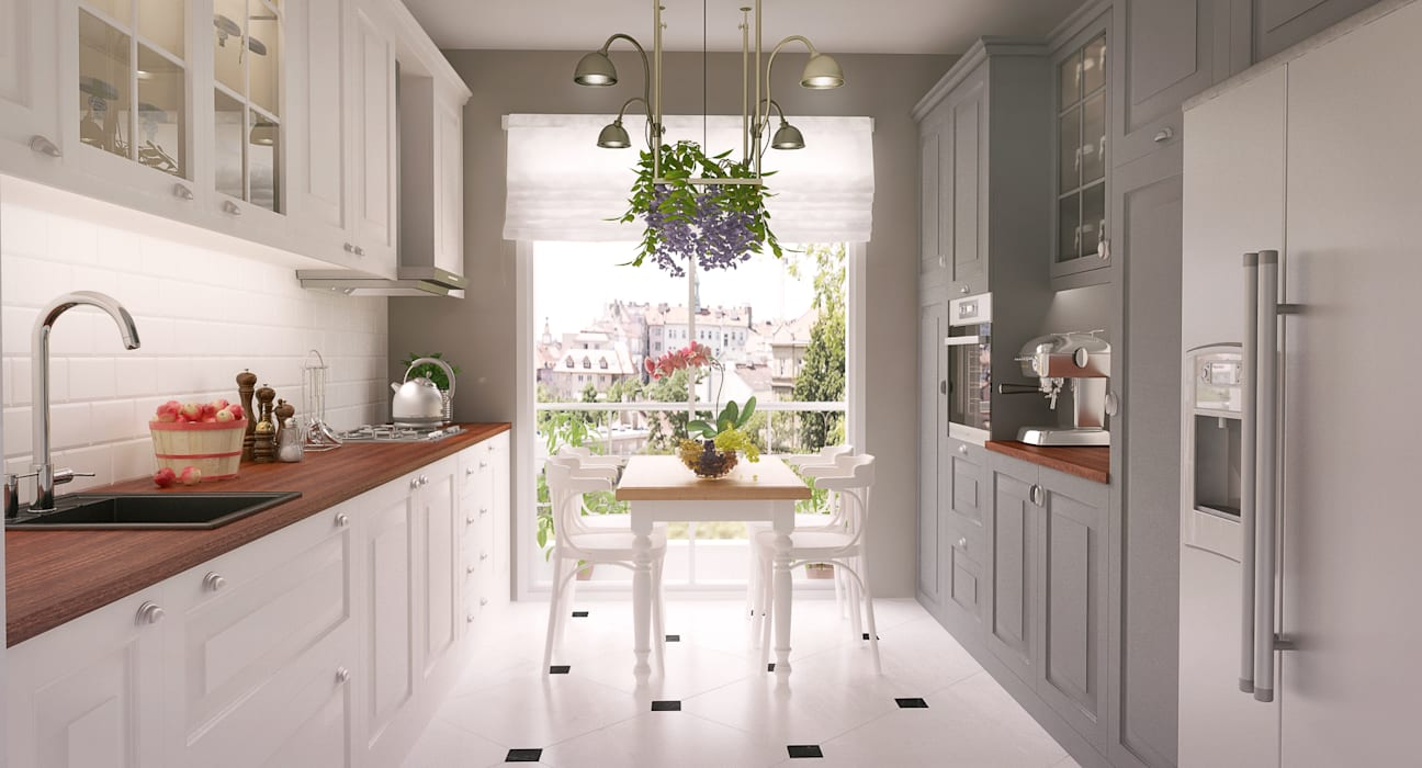 Kitchen by I'Mimarlik, Country Wood Wood effect