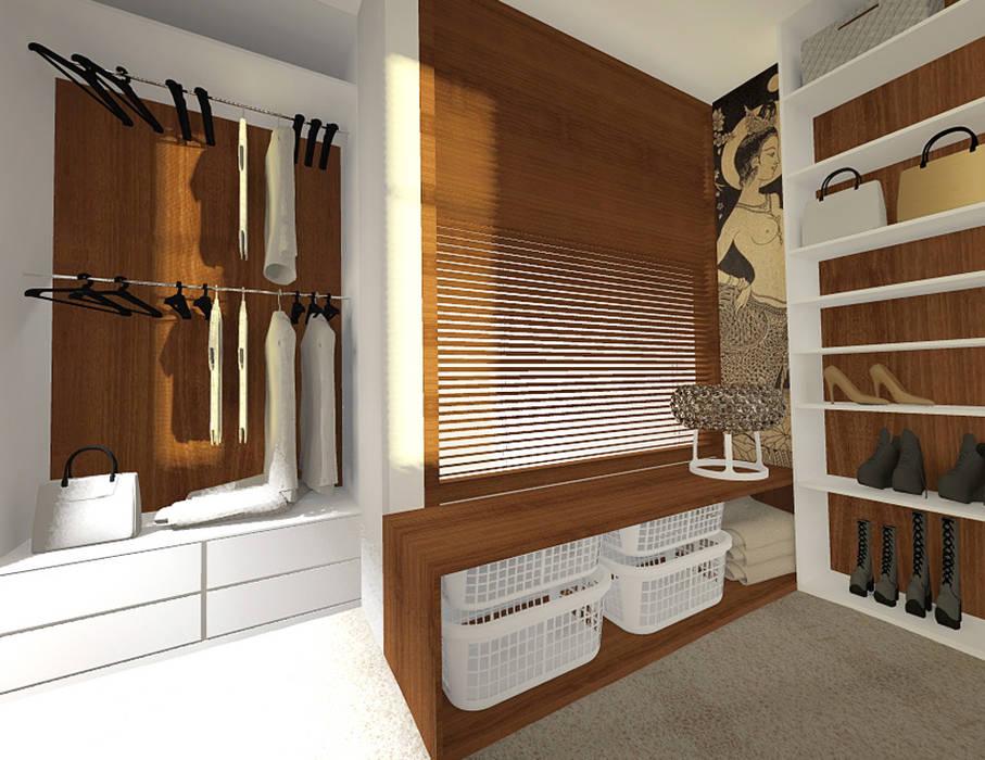 Tropical style dressing room by Manekineko Tropical
