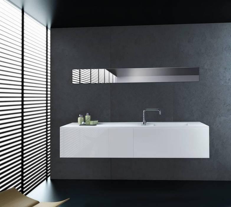 A beleza da simplicidade Casas de banho modernas por Water Evolution Moderno