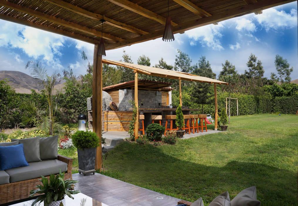 Una casa de campo para so ar jardines de estilo r stico por malu goni homify - Diseno de jardines rusticos ...