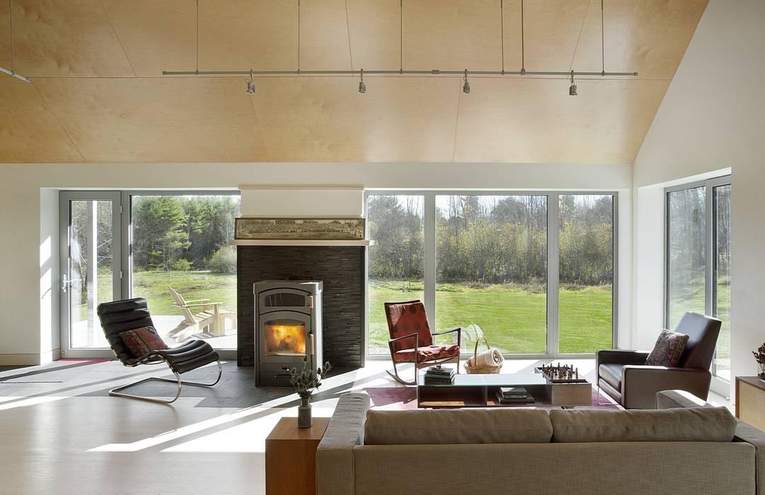 Living Area ZeroEnergy Design Modern Living Room Wood Wood effect
