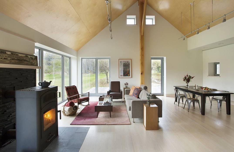 Living & Dining ZeroEnergy Design Modern Living Room Wood Wood effect