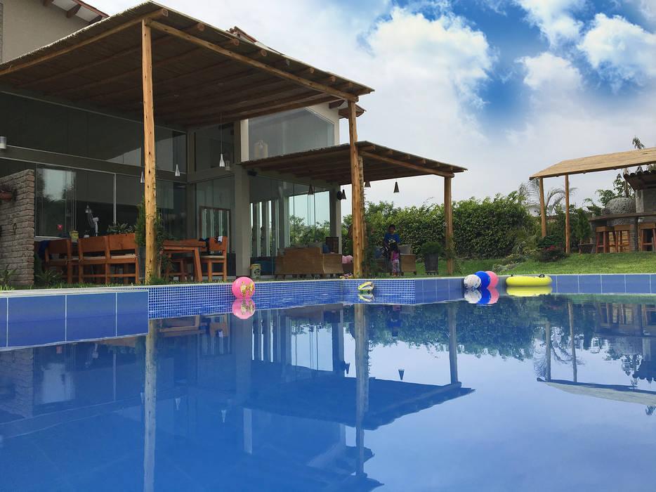 malu goni Rustic style pool