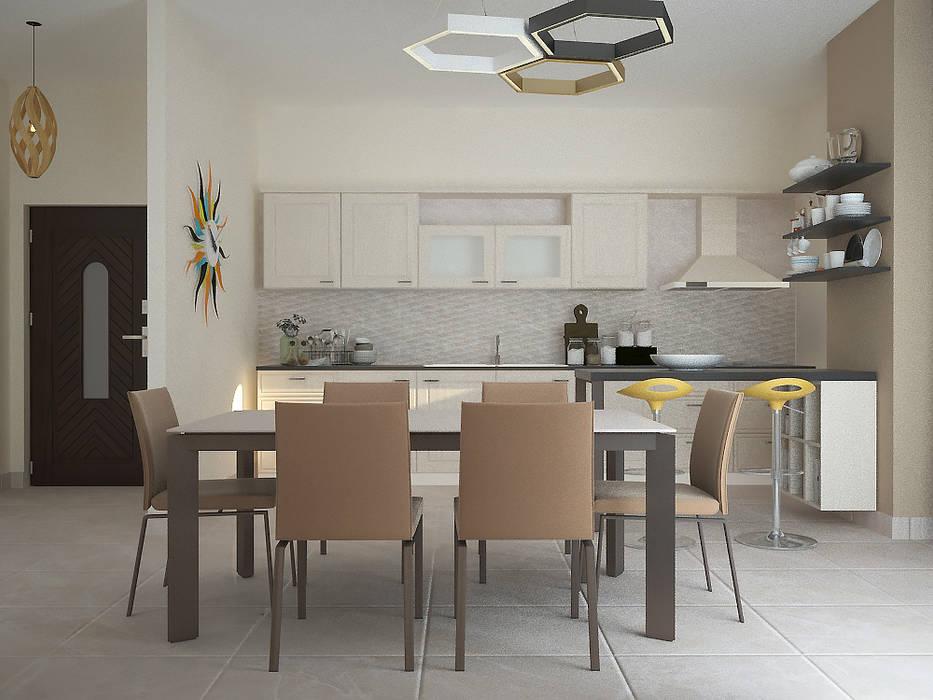 Sala da pranzo Cucina moderna di Teresa Lamberti Architetto Moderno Legno Effetto legno