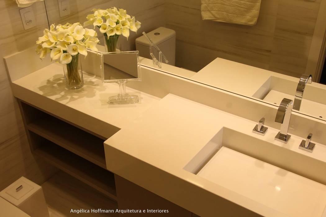 Paradiso Vila Mariana Banheiros modernos por Angelica Hoffmann Arquitetura e Interiores Moderno