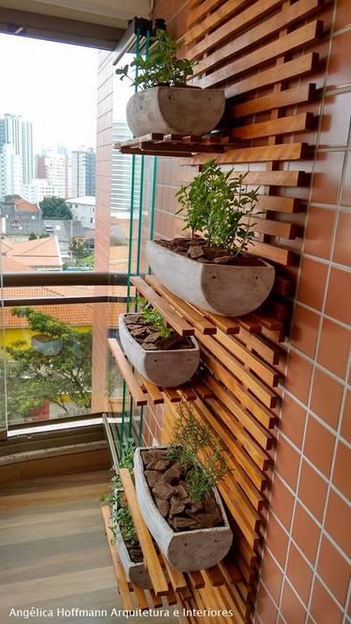 Paradiso Vila Mariana Varandas, alpendres e terraços modernos por Angelica Hoffmann Arquitetura e Interiores Moderno