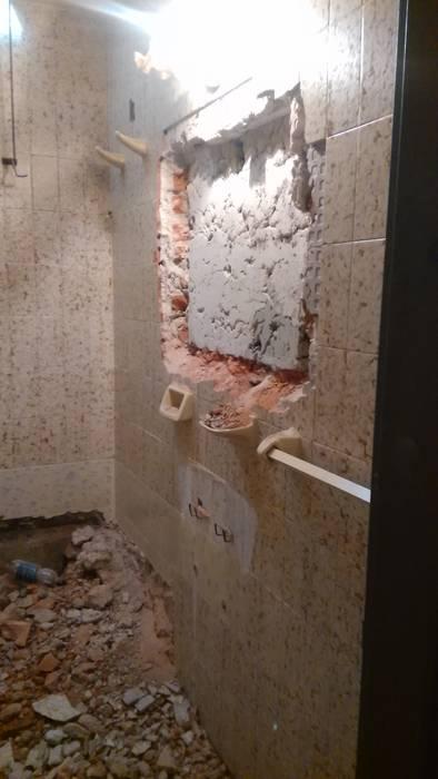 REMODELACION BAÑO Baños modernos de ESTUDIO CRUZ Moderno Cerámico