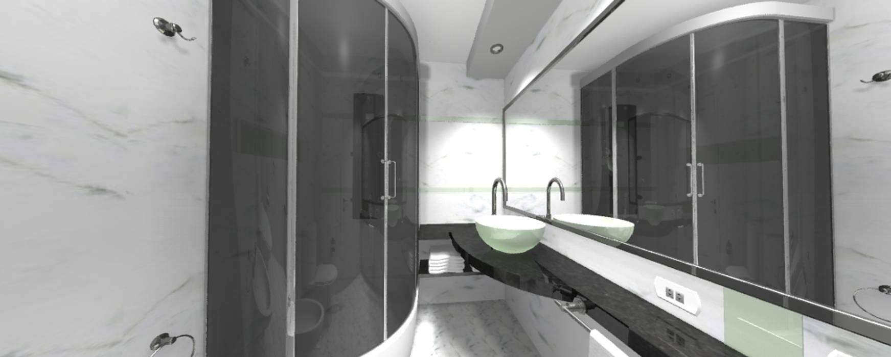 REMODELACION BAÑO: Baños de estilo moderno por ESTUDIO CRUZ