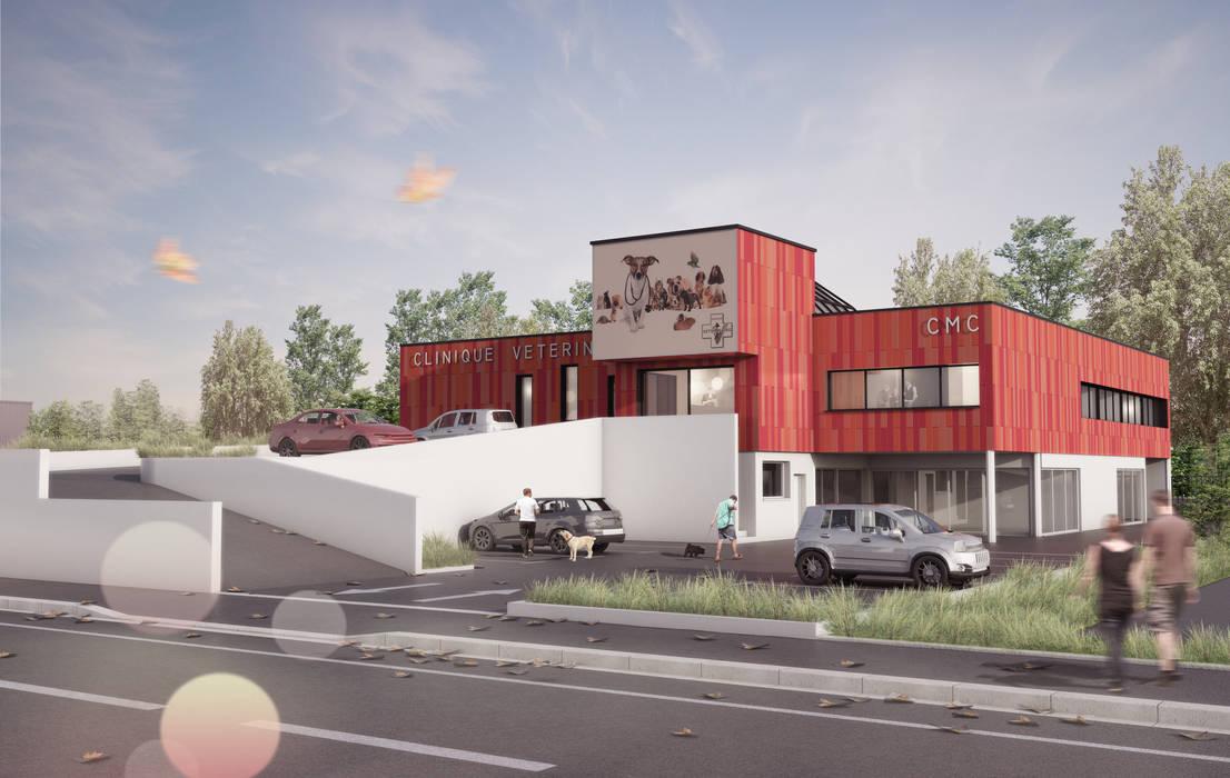 Clinique Vétérinaire - Vue du Projet: Cliniques de style  par Ricardo Vasconcelos - Architecte