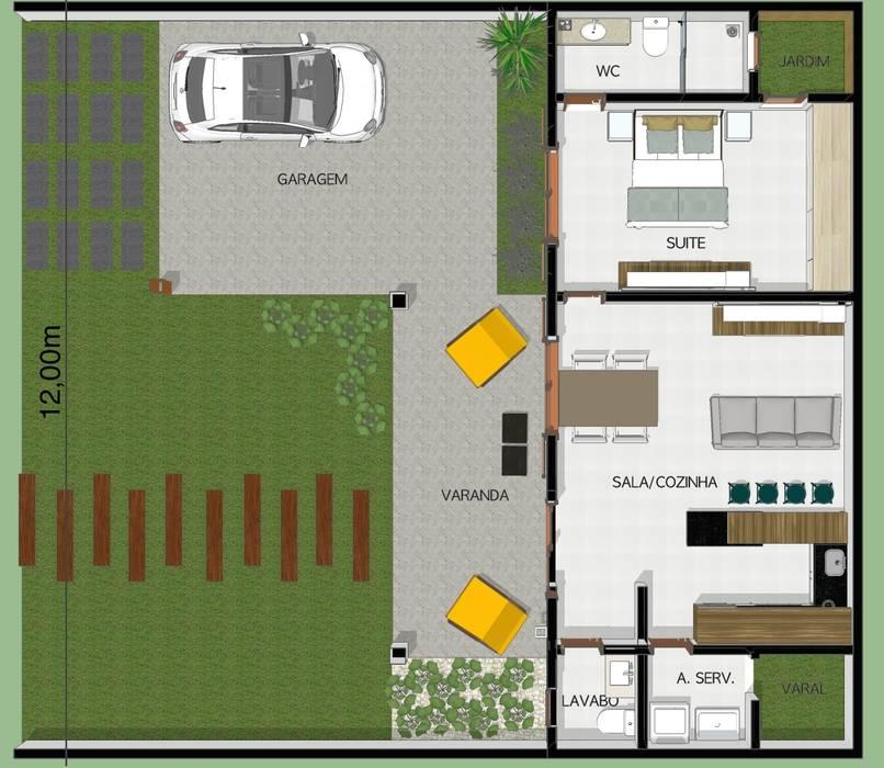 Arquitetura Pronta Rumah Gaya Eklektik Beton