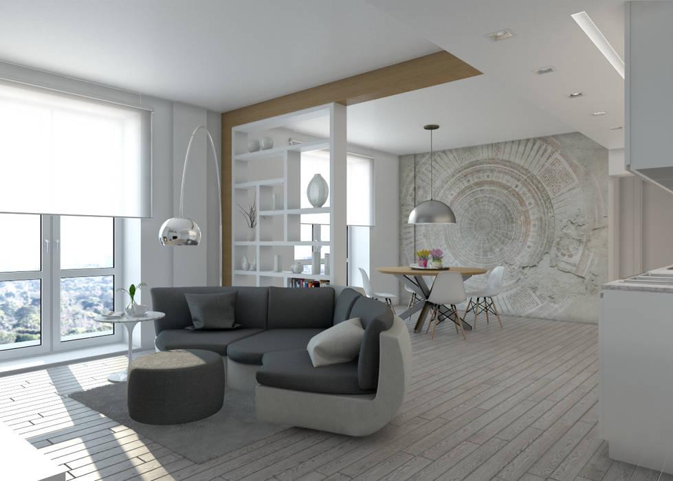 Progetto appartamento soggiorno in stile di silvana for Progetto appartamento moderno