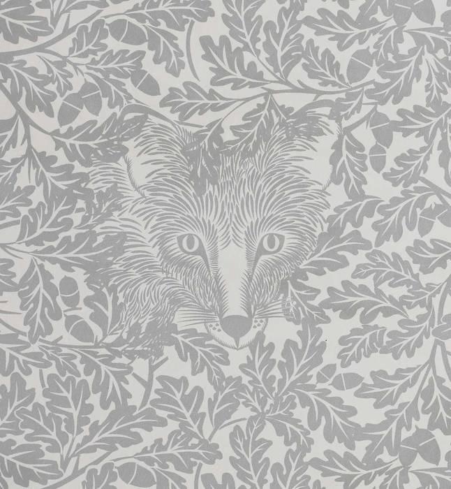 FOREST Dust Dove Grey Wallpaper 10m Roll: scandinavian  by Hevensent, Scandinavian
