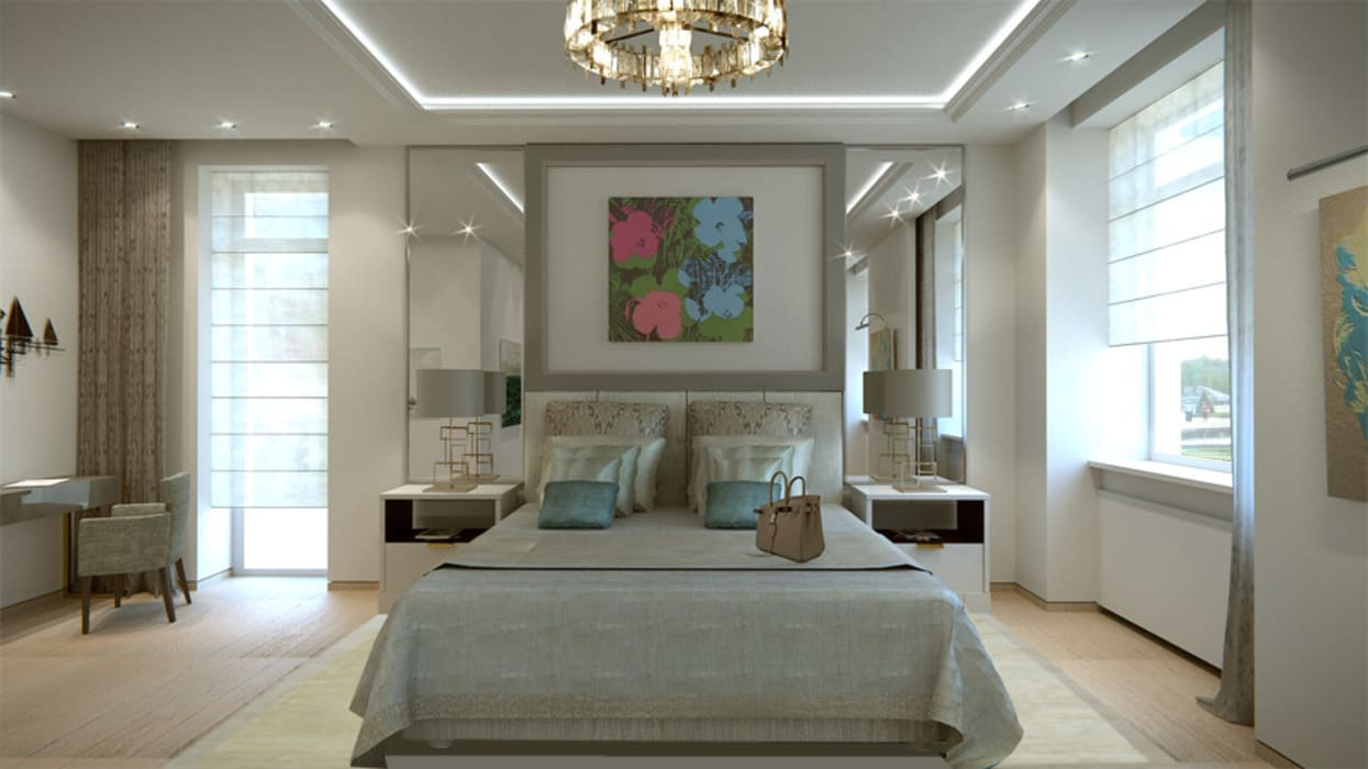 Chambre Parentale / Master Bedroom Chambre moderne par Paris Luxury Interiors Moderne