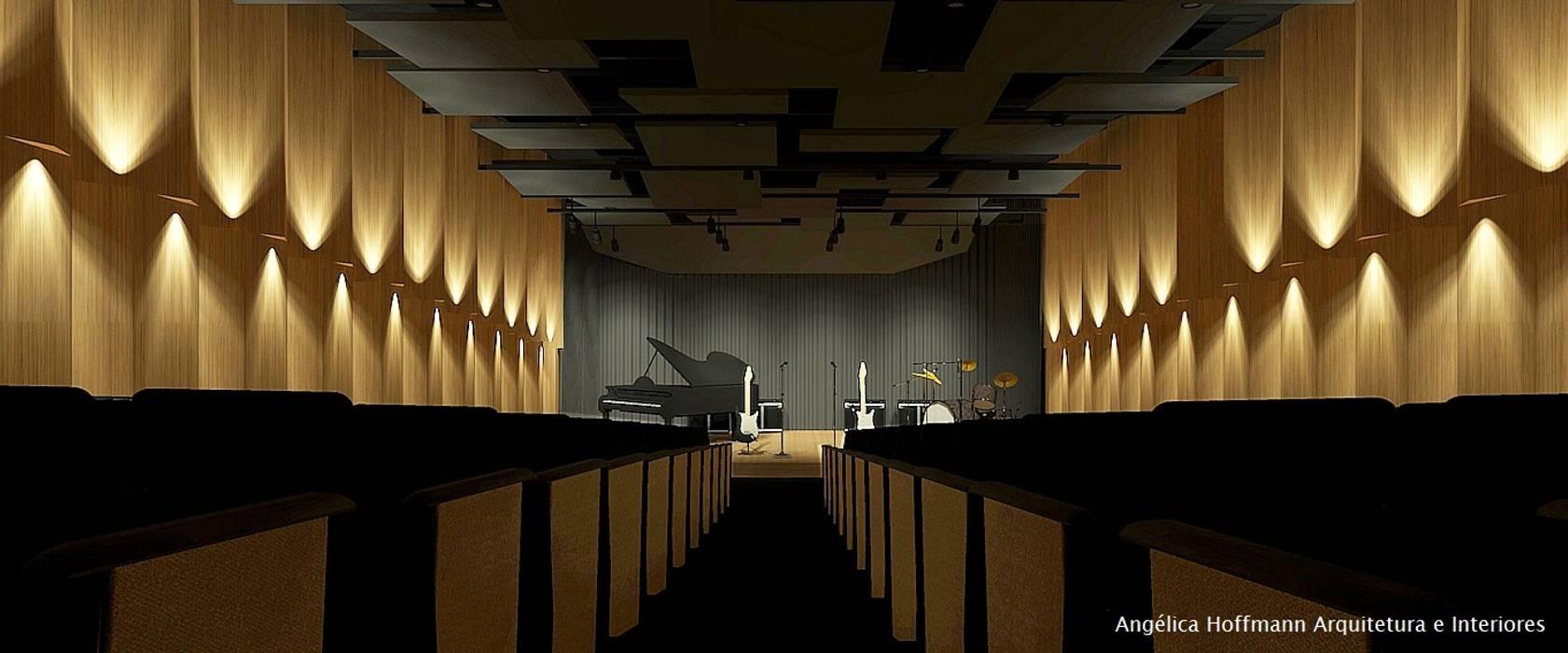 Souza Lima Escola de Música Escolas modernas por Angelica Hoffmann Arquitetura e Interiores Moderno