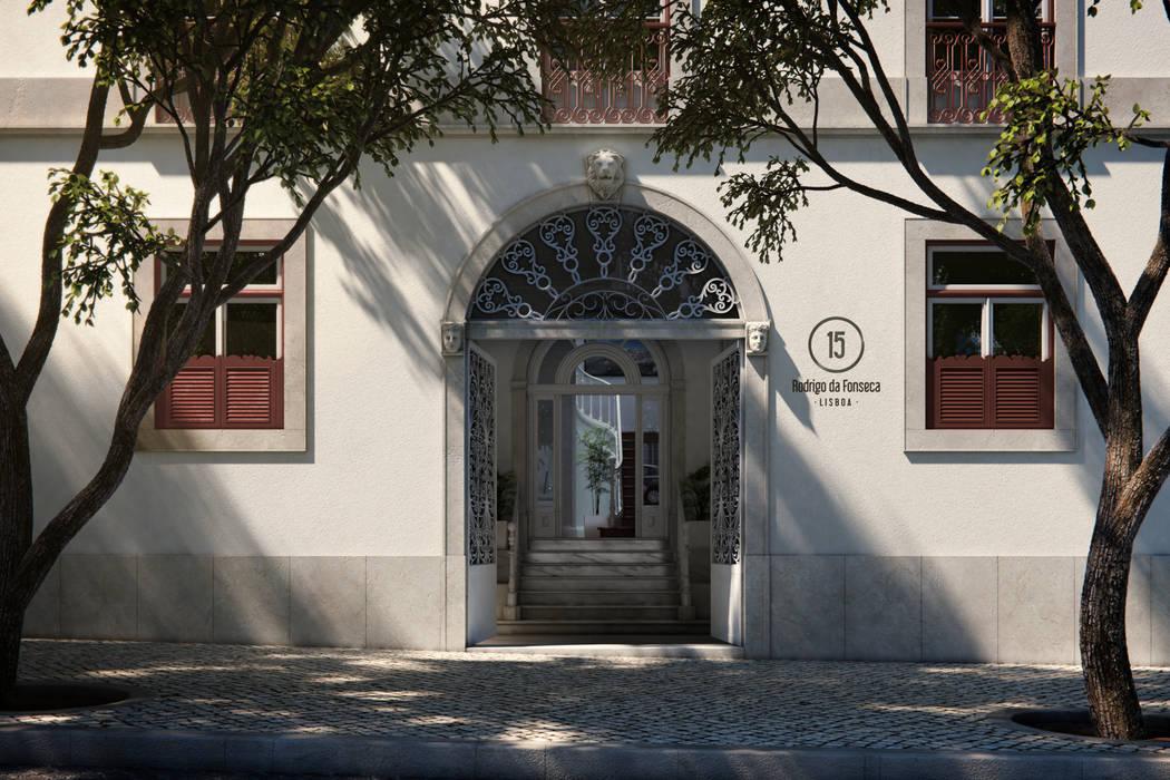 APARTAMENTO LUXO - T1 - AVENIDA DA LIBERDADE Casas modernas por EU LISBOA Moderno