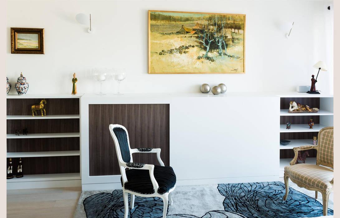 Un Appartement Moderne Entre Blanc Et Bois Salon De Style