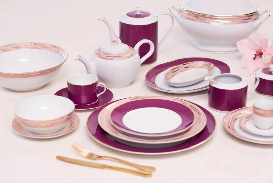 Violet Porcel - Indústria Portuguesa de Porcelanas, S.A. Dining roomCrockery & glassware Porcelain Purple/Violet