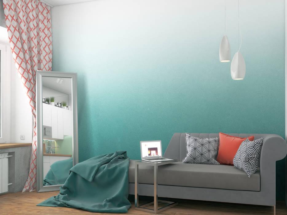 Living room by Ёрумдизайн, Scandinavian Wood Wood effect