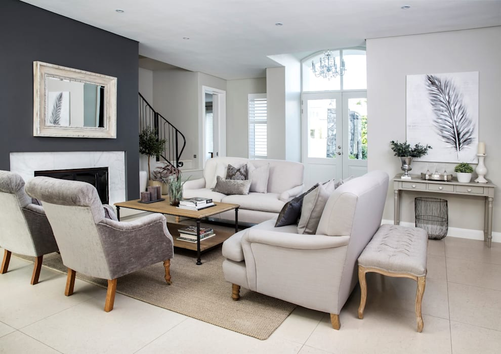 Lounge:  Living room by Salomé Knijnenburg Interiors,