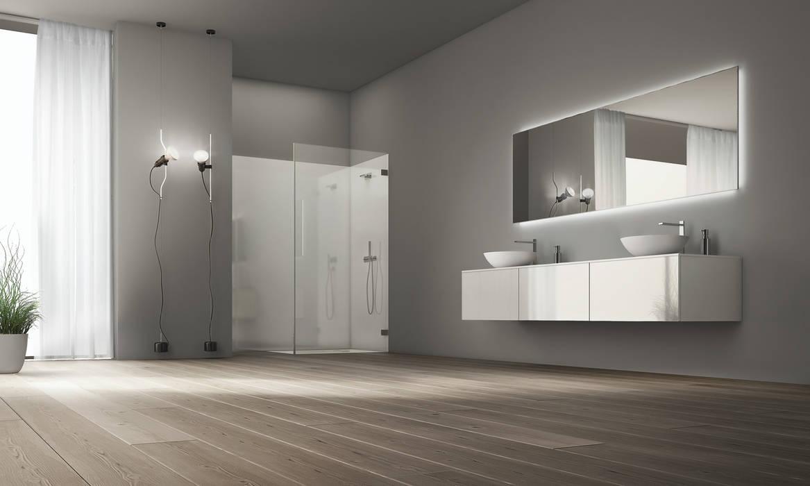 Simplicity is the new black: Casas de banho  por Water Evolution