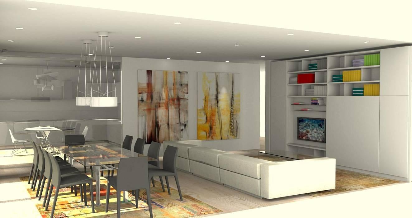 Progetto cucina ,zona giorno e camerette : soggiorno in stile di ...