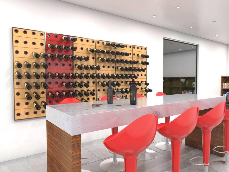 Garrafeiros - Adegas para Vinho Wine cellar Wood-Plastic Composite Black