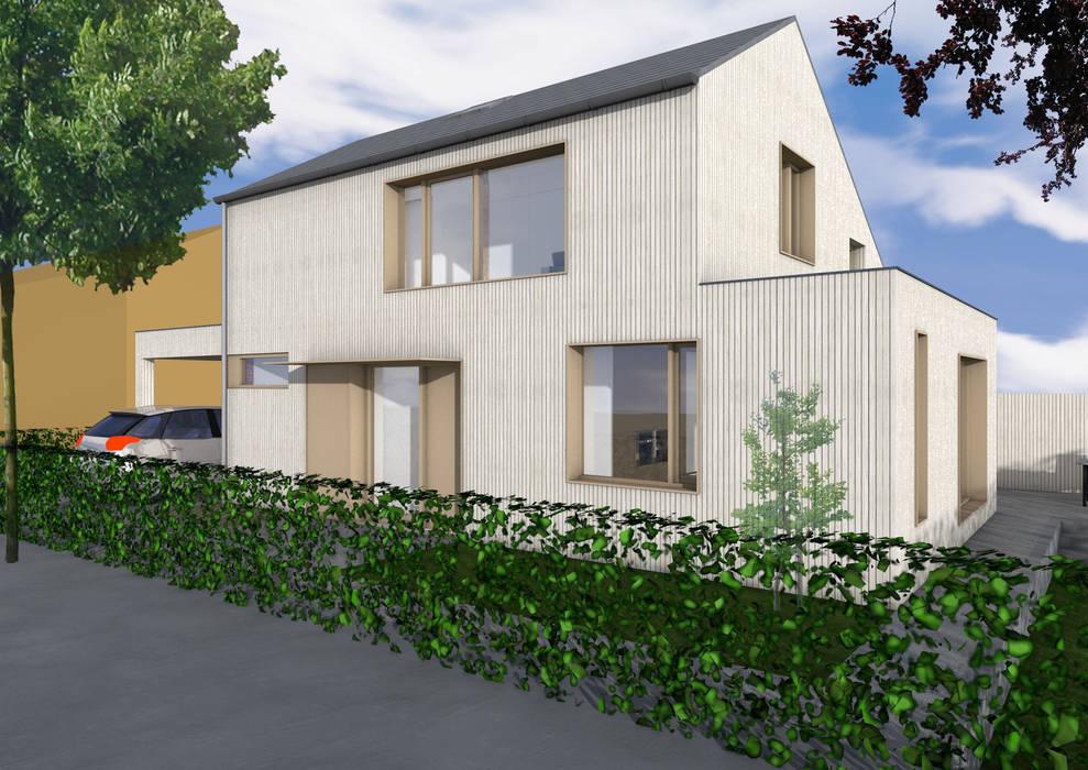Dick van Aken Architectuur Moderne Häuser Holz Holznachbildung