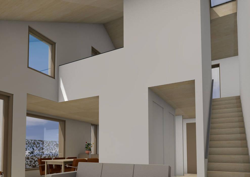 Dick van Aken Architectuur Ruang Keluarga Modern Kayu Wood effect